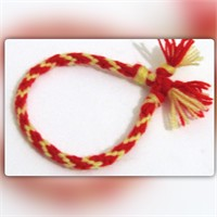 Pafuli El Örgüsü Renkli Hayaller Bileklik Sarı-Kırmızı