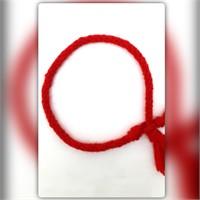 Pafuli El Örgüsü Renkli Hayaller Bileklik Kırmızı