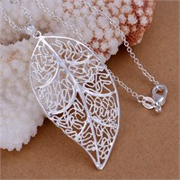 Byzinci Gümüş Yaprak Kolye