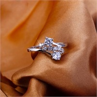 Byzinci 18Krgp Swarovski Kristal Şık Yüzük