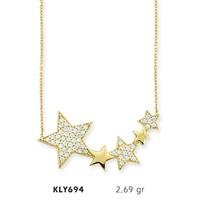 Romeo Pırlanta 14 Ayar Altın Yıldız Kolye Kly694