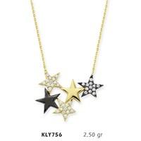 Romeo Pırlanta 14 Ayar Altın Yıldız Kolye Kly756