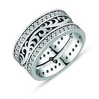 Tesbihane 925 Ayar Gümüş Sarmaşık Model Bayan Alyans