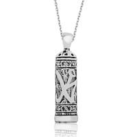 Tekbir Silver Gümüş Muhammed Yazılı Cevşen Kolye