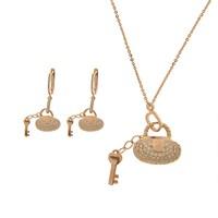 Bayan Lili Gümüş Anahtar Figürlü Set