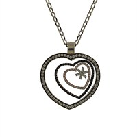 Bayan Lili Gümüş Üçlü Kalp Kolye