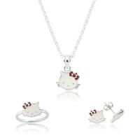 Bayan Lili Gümüş Kedi Çocuk Set