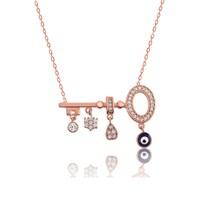 Olivin Accesories Gümüş Şans Anahtarı Kolye