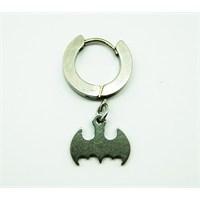Gümüş Rengi Batman Erkek Halka Çelik Küpe