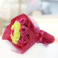 Sevgiliye Romantik Hediye Sarı Kırmızı Taraftar Buket