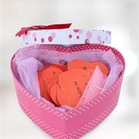 Sevgiliye Romantik Hediye 100 Dilde Seni Seviyorum Kalp Kutu