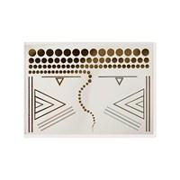 KullanAtMarket Mücevher Görünümlü Metalik Dövme (Lipstick Jungle) Model 4 - 1 Adet