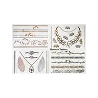 KullanAtMarket Mücevher Görünümlü Metalik Dövme (Dolce Vita) 4 Adet