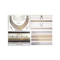 KullanAtMarket Mücevher Görünümlü Metalik Dövme (Scene Setter) 4 Adet