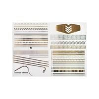 KullanAtMarket Mücevher Görünümlü Metalik Dövme (Front Row) 4 Adet