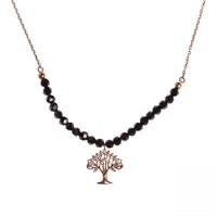 Aşina Gümüş 925 Ayar Gümüş Rose Pembe Altın Hayat Ağacı Kolye