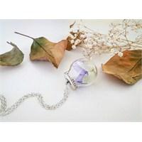 Güven Altın Yaşayan Kolyeler Kristal Cam Kurutulmuş Çiçekler Yk116