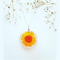 Güven Altın Yaşayan Kolyeler Kristal Cam Kurutulmuş Çiçekler Yk179