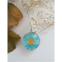 Güven Altın Yaşayan Kolyeler Kristal Cam Kurutulmuş Çiçekler Yk95