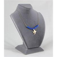 Reis Kuyumculuk Opal Taşlı Kuş Kolye