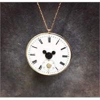Reis Kuyumculuk Mickey - Saat Kadranlı Pırlantalı Kolye