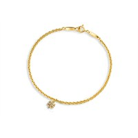 Melis Gold Altın Kartaneli Charm Bileklik ZB000087
