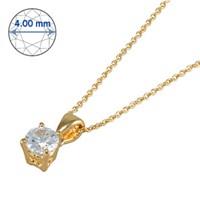 Goldstore 14 Ayar Altın Tek Taş Kolye GSP15863