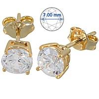 Goldstore 14 Ayar Altın Tek Taş Küpe GES15878