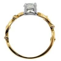 Goldstore 14 Ayar Altın Tek Taş Yüzük Grs11023