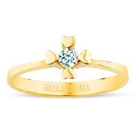 Bella Gloria 8 Ayar 2,48 Gr 0,14 Karat Pırlanta Tektaş Kalpli Yüzük (SL8A001)