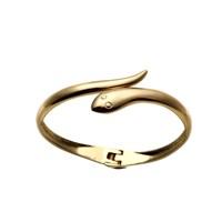 Lochers Altın Kaplama Yılan Desenli Taşlı Bileklik
