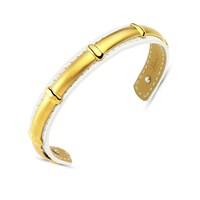 Lochers Altın Kaplama Deri Çelik Bileklik