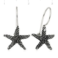 Gumush 925 Deniz Yıldızı Gümüş Küpe   Ea1360002