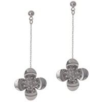 Bigg Barkıel Çiçek Uzun Küpe-Gümüş