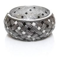Bigg Hathor Hasır Kelepçe-Gümüş