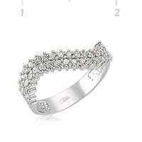 Tekbir Silver 925 Zirkon Taşlı Gümüş Sıra Taşlı Bayan Yüzük WRG101181