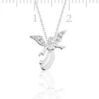 Gumush 925 Zirkon Taslı Gümüş Melek Kolye | PND47033001