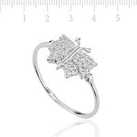 Tekbir Silver 925 Zirkon Taslı Gümüş Kelebek Bayan Yüzük LRG47066025