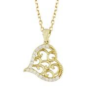 AltınSepeti Altın Aşk Bahçesi Kalp Kolye AS566KL