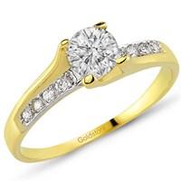 Goldstore 14 Ayar Altın Tek Taş Yüzük Grs10409