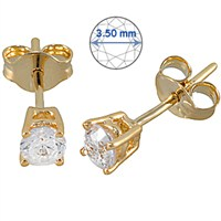 Goldstore 14 Ayar Altın Tek Taş Küpe Ges15873