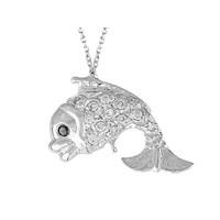 Sirius Pırlanta Taşlı Balık Kolye