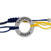 Melin Paris Sarı-Lacivert Şampiyon Babam Pırlantalı Bileklik