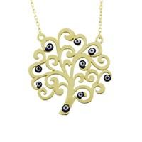 AltınSepeti Gözlü Hayat Ağacı Altın Kolye AS618KL