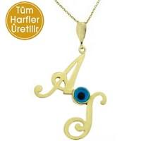 Goldstore 14 Ayar Altın İki Harfli Kolye IKSD10335