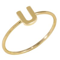 Goldstore 14 Ayar Altın Harf Yüzük PNJ27844