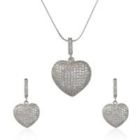 eJOYA Gümüş Kalp Takım