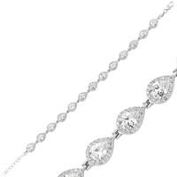 Gumush 925 Gümüş Zirkon Taşlı Su Yolu Bileklik Br0460208