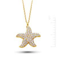 Bella Gloria Altın Deniz Yıldızı Kolye (Pp78196)