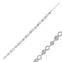 Tekbir Silver 925 Sonsuzluk İçinde Kalp Bileklik BR0460210